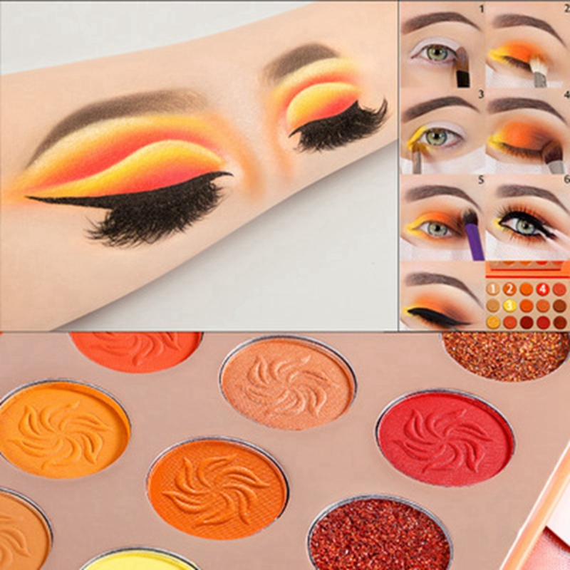 neon maquiagem paleta-laranja e roxo