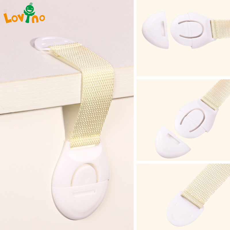 10pcs/Lot Drawer Door Cabinet Cupboard Toilet Safety Locks Baby Kids Safety Care Plastic Locks Straps Infant Baby Protection 2