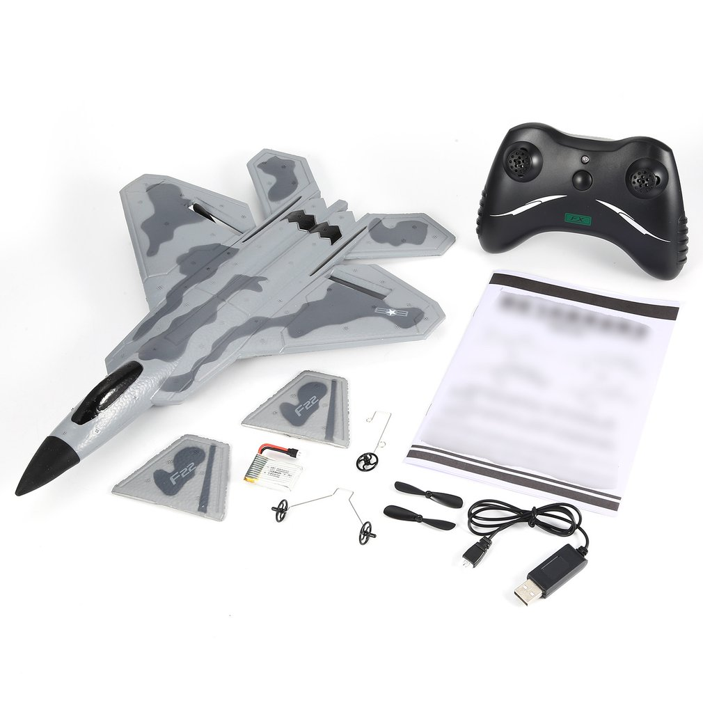 A FX-822 F22 2.4GHz 290mm Wingspan EPP RC Fighter Done Battleplane RTF Remote Controller RC Quadcopter Aircraft Drone Model Toy