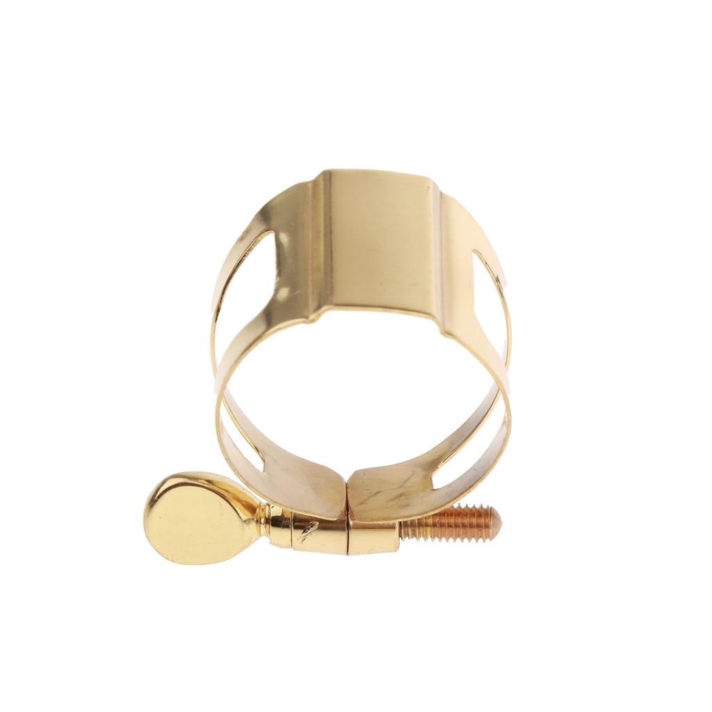 Brass Sax Mouthpiece Ligature Clip Single Tightening Screw For Alto Saxophone Fasten Reed Mouthpiece