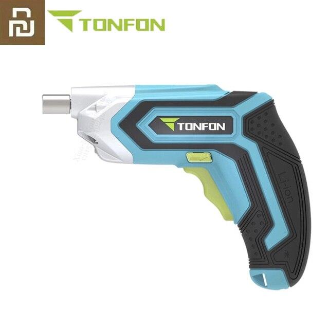 Youpin Tonfon Taladro Inalámbrico eléctrico inalámbrico pistola de impacto branquias destornillador de potencia con Bits 1500mAh batería recargable