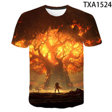 2021 men and women new casual short-sleeved fashion warcraft 3D printed children's clothing street trend fun wild T-shirt
