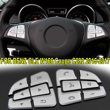 Interior Button Cover Trim Inner Steering Wheel 12pcs ABS For Mercedes-Benz GLE W166/Coupe C292 2015-2017 Set Replacement