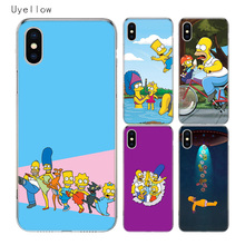 Uyellow Homer Draw Simpson Cute Cover For Iphone 5 6S 7 8 9 10 Plus Trend Silicone Soft Phone Case Apple X XR XS MAX Coque