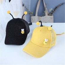 Лето дети бейсболки детские мальчики девочки мультфильм Би антенна ВС шляпы сетки snapback шапки спорта на открытом воздухе для 2-9 лет