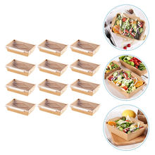 20 conjuntos descartáveis takeaway box sushi caixa de salada de frutas caixa de armazenamento portátil
