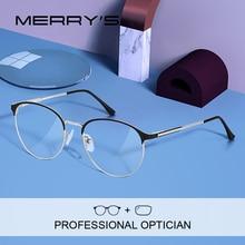 MERRYS gafas graduadas Retro para mujer, monturas de gafas de miopía, monturas de moda, S2123PG