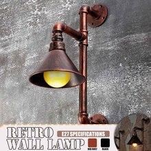 Luces de pared de tubo de agua Vintage decoración personalizada desván Industrial almacén accesorios de iluminación para pared Bar restaurante Decoración