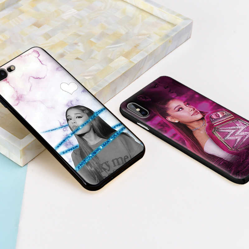 Ariana grande สำหรับ iPhone XS Max XR ซิลิโคนสำหรับ iPhone X XS 6 6S 7 8 plus Coque Funda