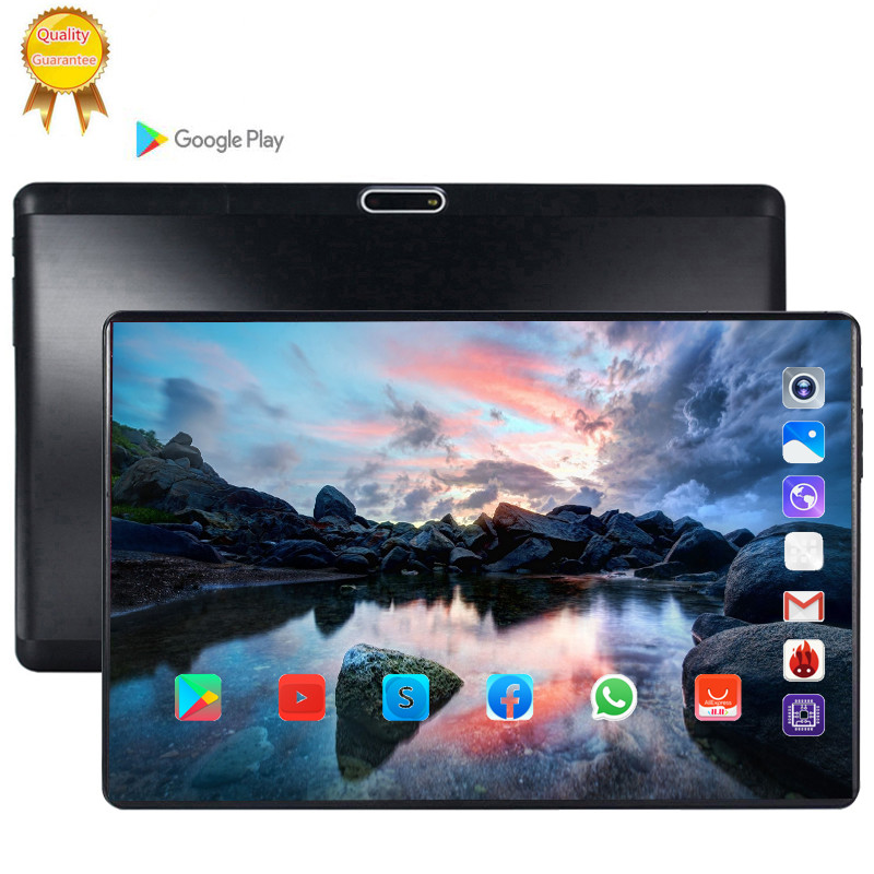 2.5D Tempered  Screen Tablet 10.1 Inch Android 9.0 Octa Core 6GB RAM 128GB ROM 3G  LTE 1280*800 IPS 5.0MP SIM Card Ips Tablet
