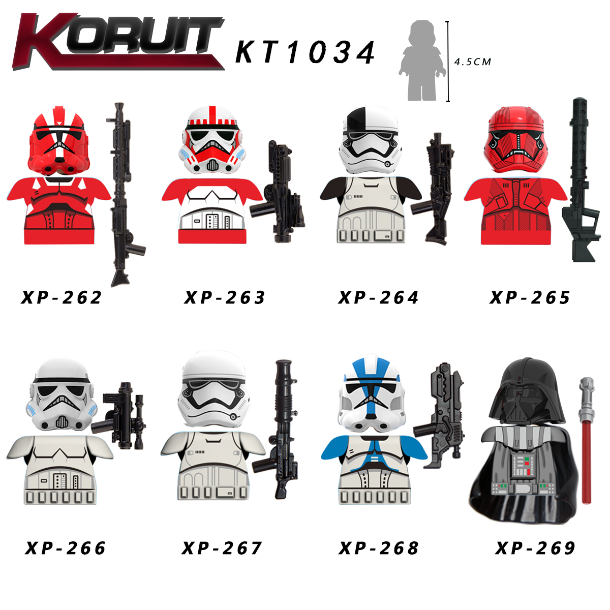 Single Sale Imperial Sith Guard Darth Vader Shock Troopers Mandalo Building Blocks Gifts Toys For Girls Children KT1034