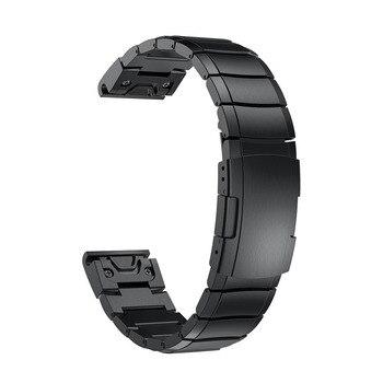26mm Quick Release Fit Fenix 5X Metal Stainless Steel Watch Band Strap for Garmin Fenix 5X/5X Plus/Fenix 3/3HR/ Smart Wristbands 1