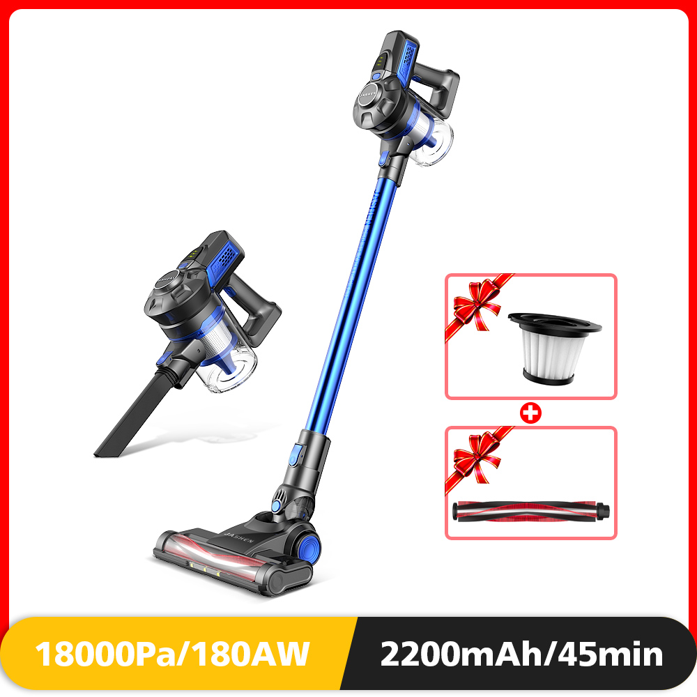 Cordless Stick Vacuum, Powerful Stick Vacuum Cleaner Lightweight Handheld Vacuum With Rechargeable Battery And LED Brush