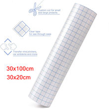 Clear Vinyl Application Tape Alignment Grid for Car Wall Craft Art Decal Transfer Paper Tape Adhesive DIY 30cmx100cm 30x20cm