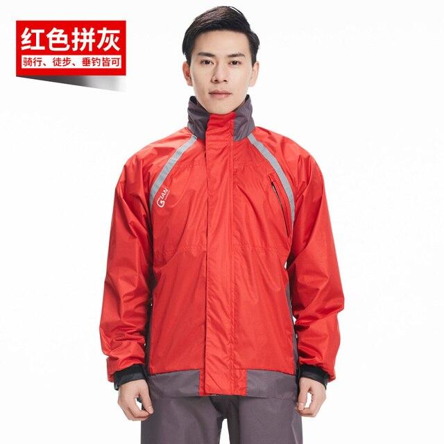 Adult Outdoor Men Rain Coat Women Motorcycle Raincoat Rain Pants Suit Set Rain Jacket Ponchos Waterproof Hiking Impermeable Gift