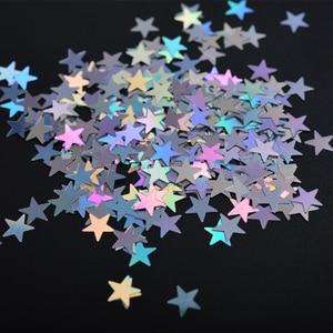 Image 4 - 1 fall Laser Pailletten für Nägel Silber Glitter Dreieck Stern Holographische Flakes Paillette Werkzeug Nagel Kunst Dekoration Maniküre JI645