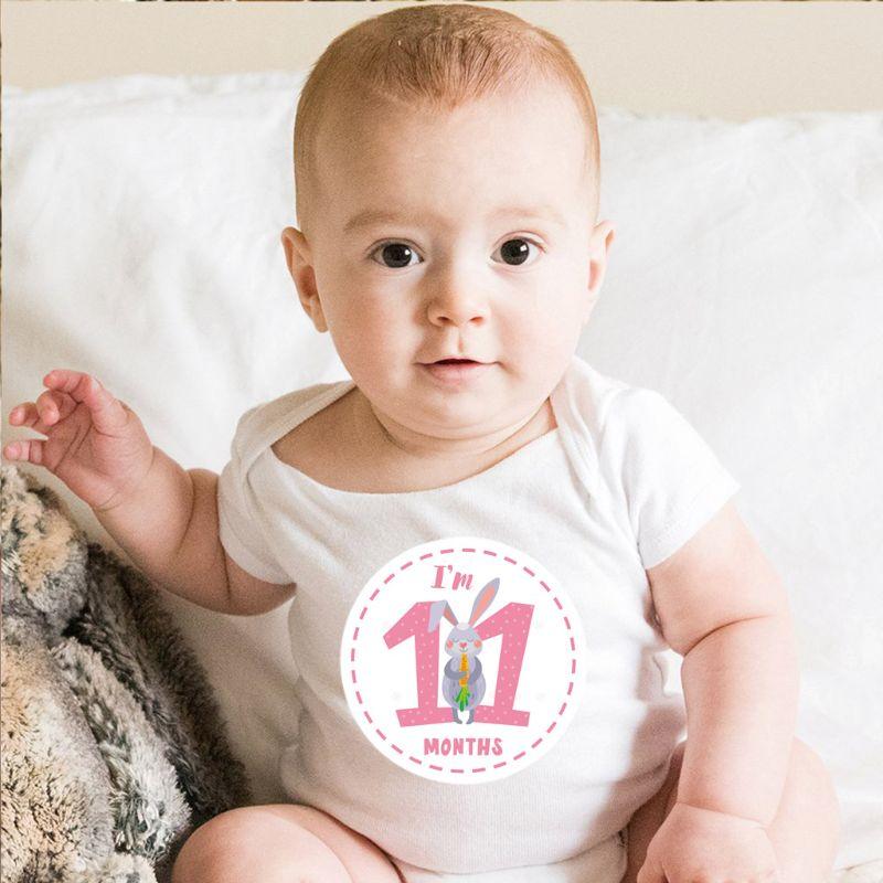 Baby Monthly Sticker Baby Belly Stickers Milestone Monthly Age Sticker Unisex U50F