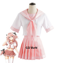 FGO Fate Grand Order Astolfo Agartha Sailor Suit School Uniform Students Cloth Tops Skirts Anime Games Cosplay Costumes