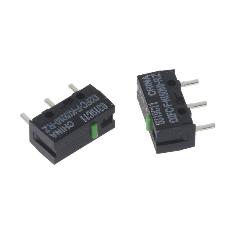 2Pcs Original OMRON Mouse Micro Switch D2FC-F-K(50M)-RZ Green Dot 50 Millions Click Lifetime For Razer LX9A