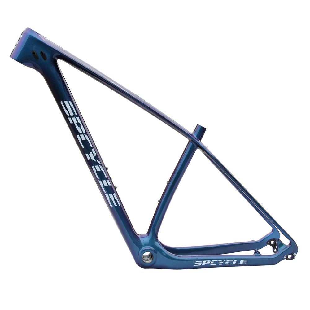 Spcycle Chameleon Color 27.5er 29er 650B MTB Bicycle Full Carbon Frames, T1000 MTB Mountain Bicycle Carbon Frames BSA 73mm