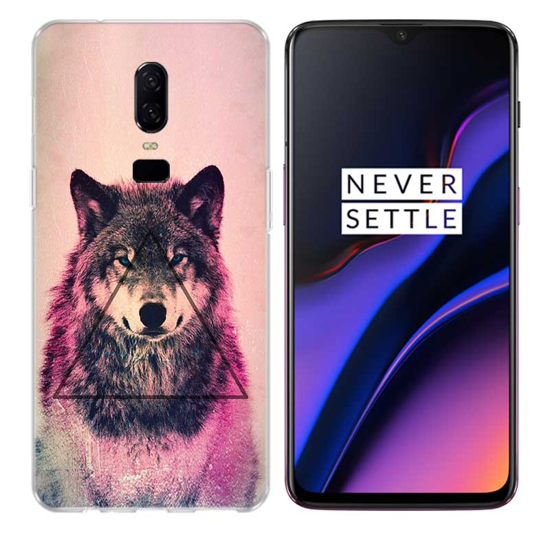 Uyellow Starry animal wolf Soft TPU Case For One Plus 7 Pro 6 6T 5 5T Fashion Fundas Printed Cover Silicone Luxury Phone Coque in Fitted Cases from Cellphones Telecommunications