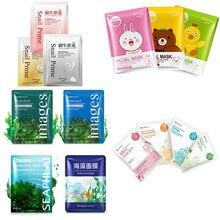 BIOAQUA Plant Extracts Skin Care face Masks Hydrating Moisturizing Repair Skin oil control  Shrink Pores Korean Facial Mask цена 2017