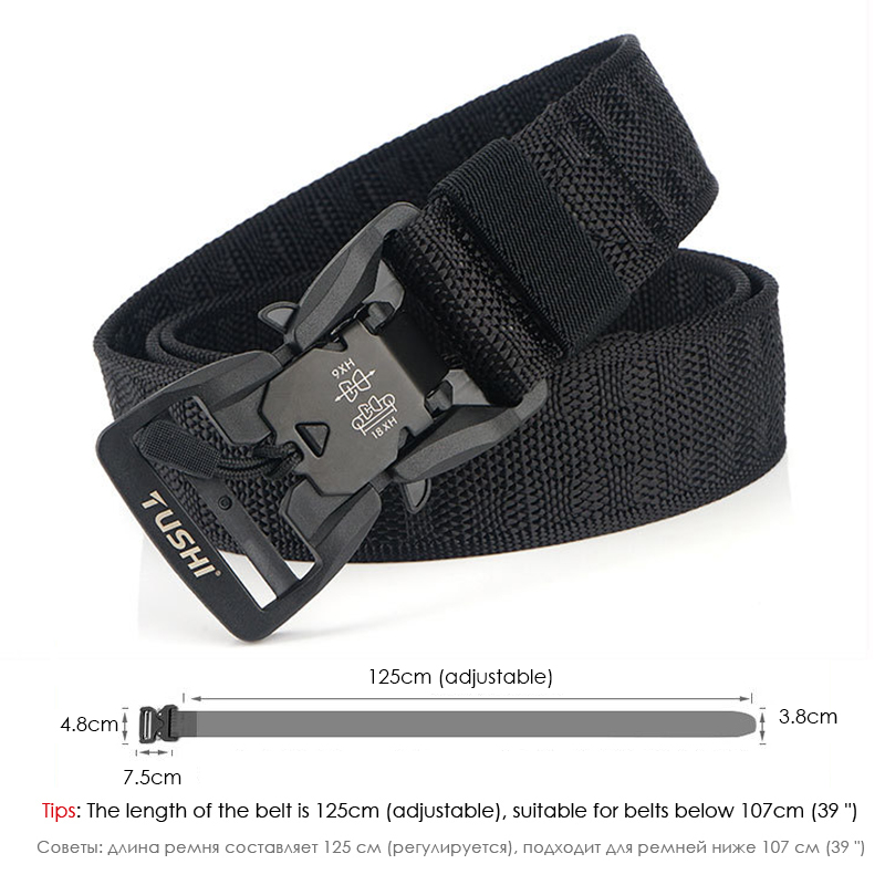 HSSEE Official Genuine Tactical Belt Hard PC Quick Release Magnetic Buckle Military Belt Soft Real Nylon Sports Accessories 4