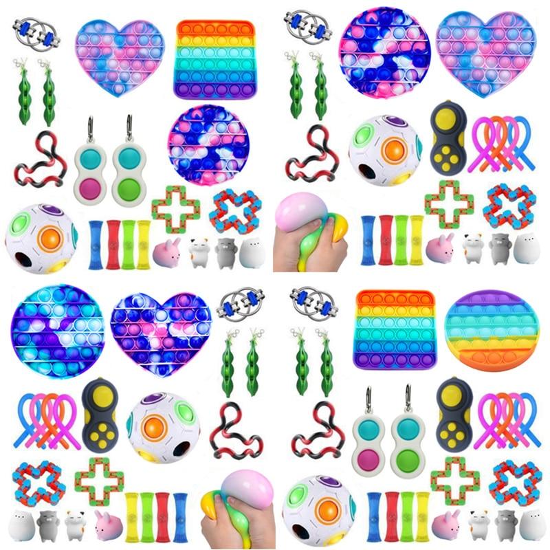 Dropshipping Fidget Toys 20/23/24/27PCS Pack Sensory Toy Set Antistress Relief Autism