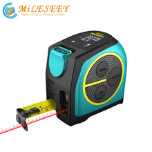 Mileseey dt10 fita de laser medida 2 em 1, medição digital a laser telêmetro a laser com tela digital de lcd gancho magnético,