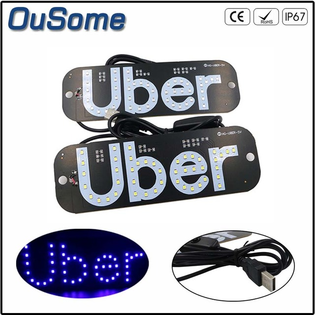 NEW Taxi Car LED Indicator Light Panel Sign Warning light Red White Blue Green USB with switch suction beacon signal Uber light
