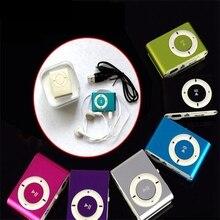 20 шт. в коробке, красочный Mp3 плеер, мини Mp3, музыкальный плеер, слот для карт Micro TF, USB, MP3, S, порт, плеер, USB порт, с наушниками, наушники