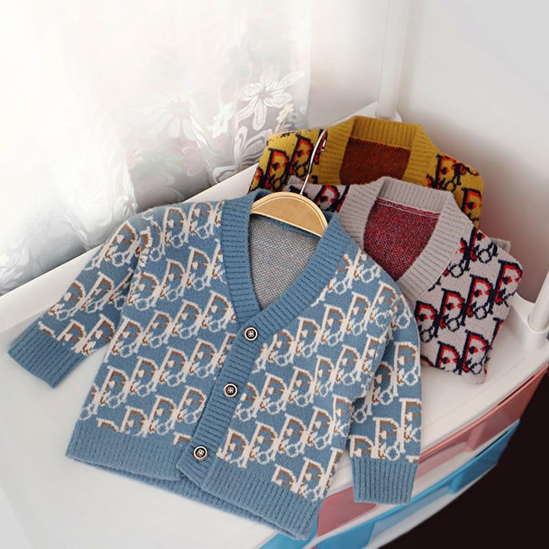 BA Soft Childrenswear Korean style Kids' Sweater Autumn & Winter New Style BOY'S Lettered Fashion Style Cardigan Coat on AliExpress