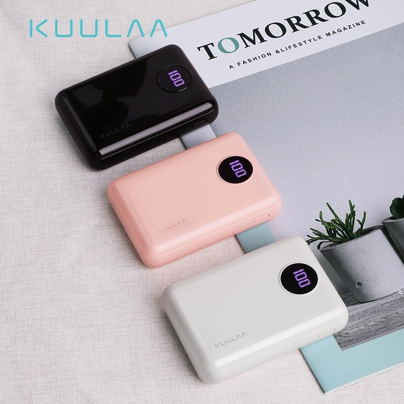 KUULAA Power Bank 10000mAh Portable Fast Charging PowerBank 10000 Dual USB Mini External Battery Charger For Xiaomi Mi PoverBank