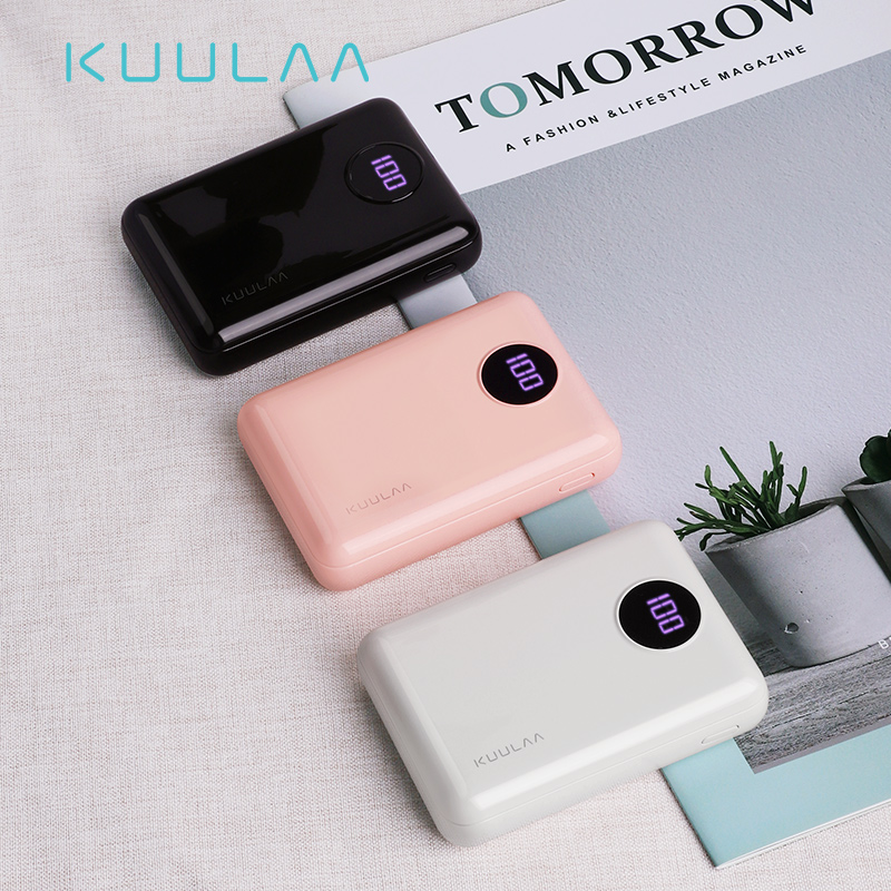 KUULAA <font><b>Power</b></font> <font><b>Bank</b></font> 10000mAh Portable Fast Charging PowerBank <font><b>10000</b></font> Dual USB Mini External Battery Charger For Xiaomi <font><b>Mi</b></font> PoverBank image