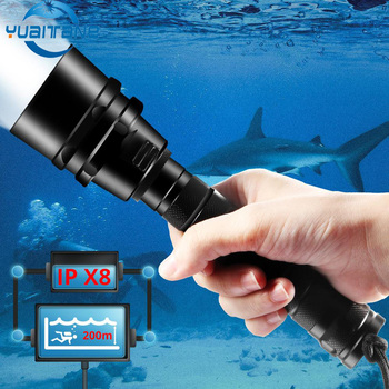 IPX8 Diving Flashlight Professional Ultra Powerful 5T6 Waterproof Diving Scuba Flashlights Underwater Torch use 18650 battery waterproof scuba diving 18650 flashlight 14 ledtorch light lamp for diving underwater photographing video