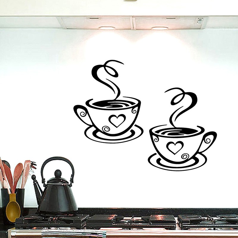 21 Style Large Kitchen Wall Sticker Vinyl Stickers Decals for House Decoration Accessories Mural Home Decor Wallpaper Poster