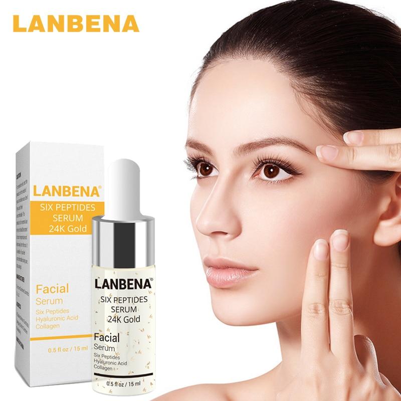 LANBENA Pure 24K Gold  Essence Hyaluronic Acid Whitening Moisturizing Anti Aging Day Cream Anti Wrinkle Face Care Collagen