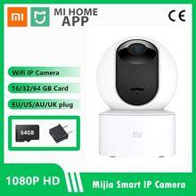 Original xiaomi mijia 1080p câmera ip 360 graus fov visão noturna 2.4ghz wi fi xiaomi casa mi kit de segurança do bebê monitor segurança