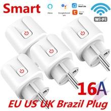16A EU US brasile Smart Wifi Plug con Power Monitor Smart Home Wifi presa Wireless funziona con Alexa Google Home Tuya App