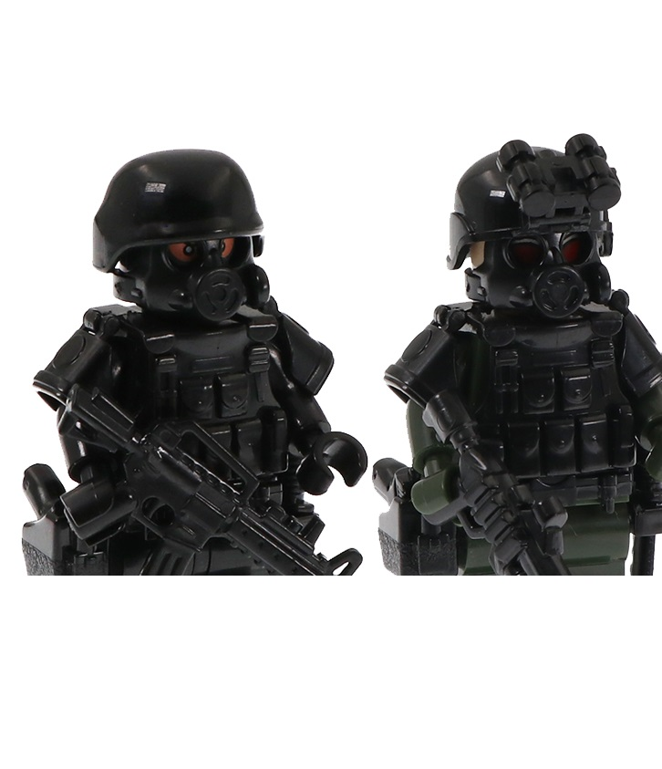 Military Special Forces Gun Modern Soldier Police MOC SWAT City Mini Military Weapons Playmobil Figures Building Block Mini Toys