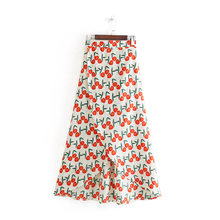 2019 Spring Europe And America WOMEN'S Dress New Style Mid-length Swallow Tail A- line Skirt 9202(China)
