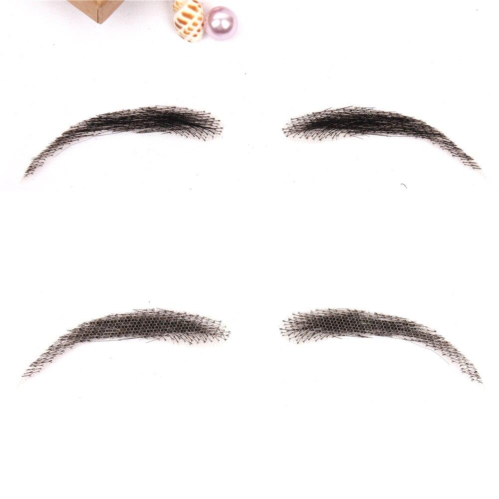 cabelo humano sobrancelhas de tecelagem artificial laço