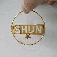 Hiphop Stainless Steel Custom Name Hoop Earrings For Women P