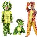 Новый костюм трицератопса для мальчиков, детский костюм с надписью «Little T-Rex», карнавальный комбинезон с динозаврами, костюмы на Хэллоуин, ро...