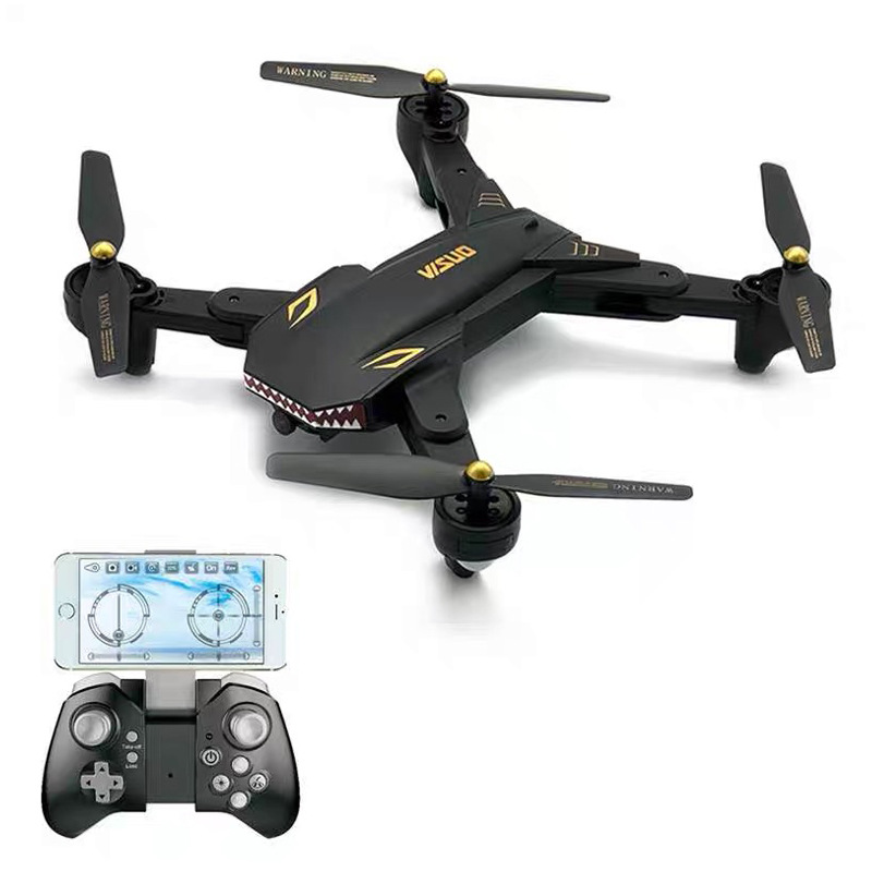 Xs816l New Style 4-K Shark-Unmanned Aerial Vehicle Optical Flow Positioning Double Camera Foldable Quadcopter