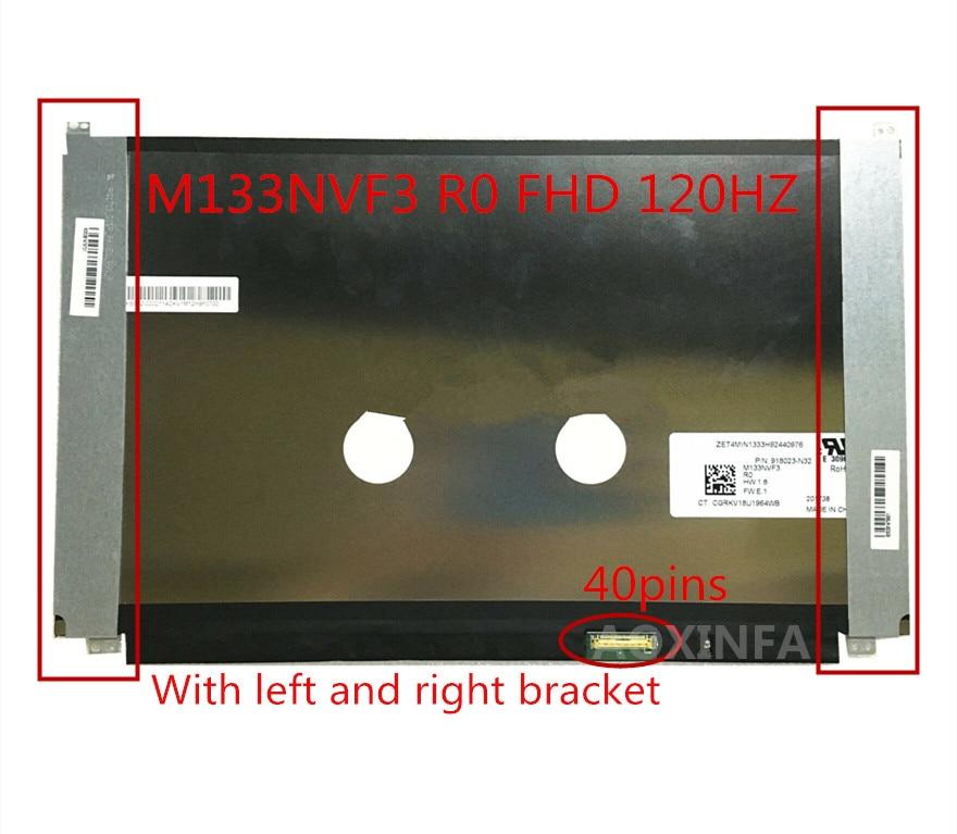 120hz tela lcd do portátil de 13.3 polegadas fhd m133nvf3 r0 40 pinos sem toque para hp elitebook 830 g5