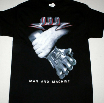 U D O Man And Machine Black T Shirt Heavy Metal Udo Dirkschneider Accept Pride Of The Creature T Shirts 032272