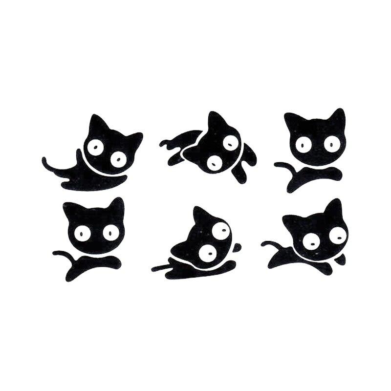 Милый черный прыгающий Кот, тату для рук, водостойкий, временная вспышка, fakeTattoo, наклейка, маленькая татуировка для мужчин и женщин