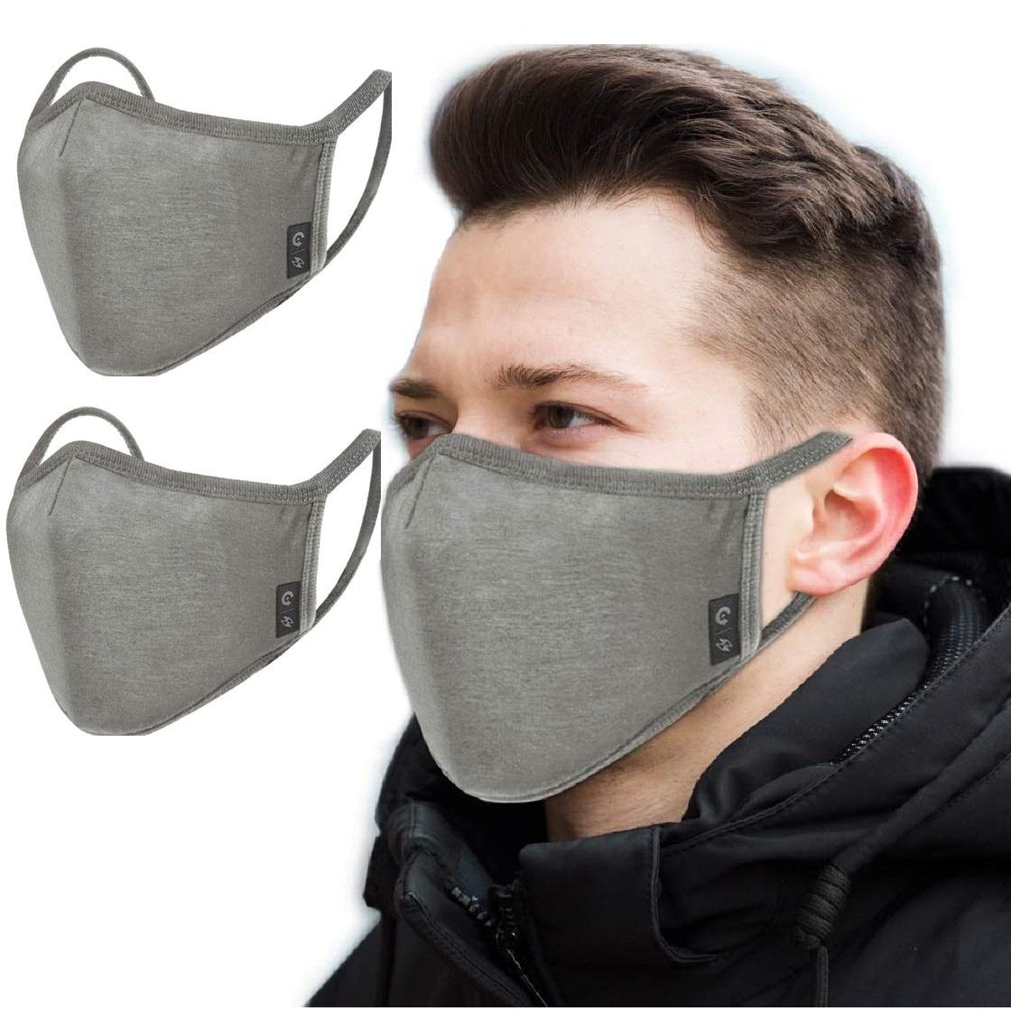 Комплект из 2 предметов для взрослых Для мужчин хлопковая маска для губ моющиеся 3 слоя маска для лица для Защитная рот Кепки многоразовые ...