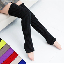 Socks Stretch Knitted-Hole High-Length Leg-Warmers Winter Long Women Solid Cool Slim
